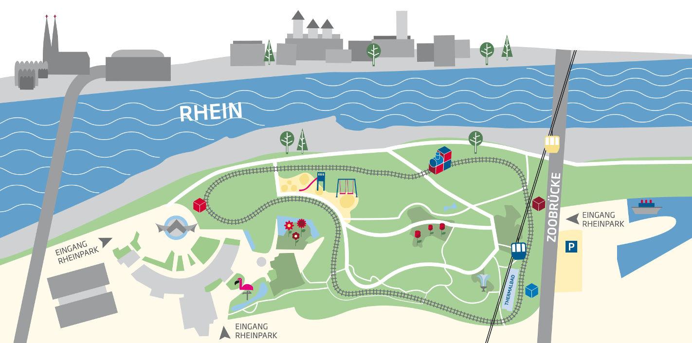 Kleinbahn im Rheinpark Koeln